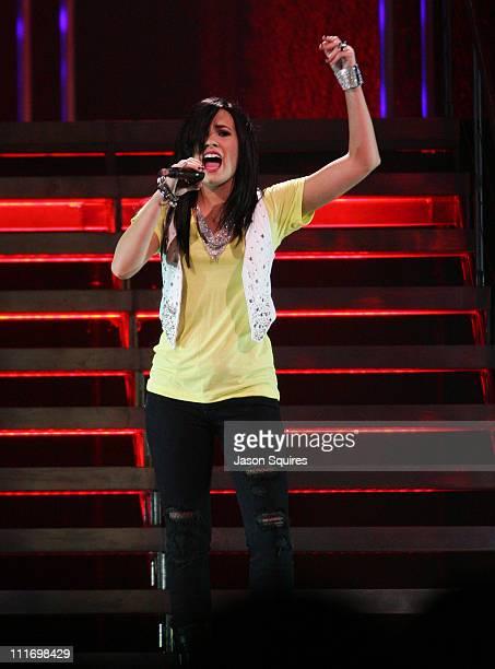 Demi Lovato performs at Sprint Center on July 22 2009 in Kansas City Missouri