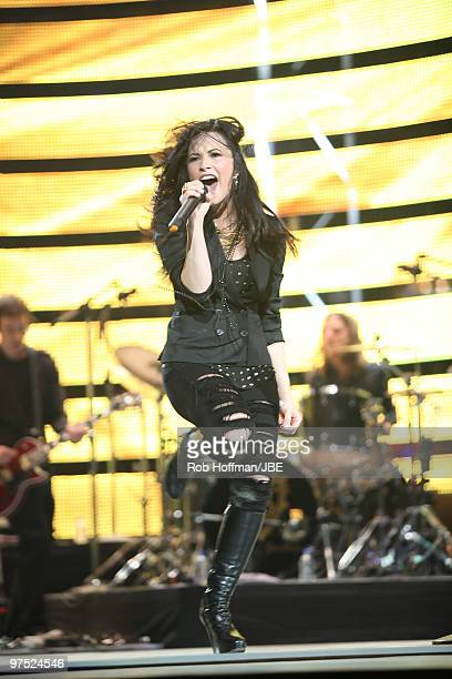 Demi Lovato performs at the 2010 Houston Rodeo on March 7, 2010 in Houston, Texas.