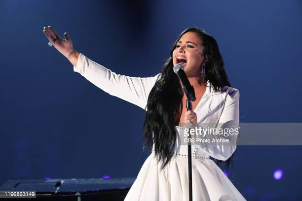 Demi Lovato performs at THE 62ND ANNUAL GRAMMY® AWARDS broadcast live from the STAPLES Center in Los Angeles Sunday January 26 2020 on the CBS...
