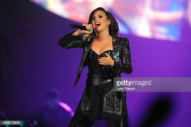 Demi Lovato performs at the Baltimore Arena on September 6 2014 in Baltimore Maryland