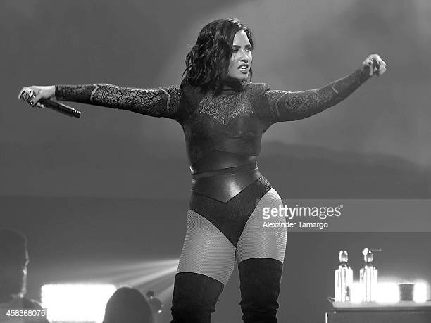 Demi Lovato performs at the BBT Center on July 1 2016 in Sunrise Florida