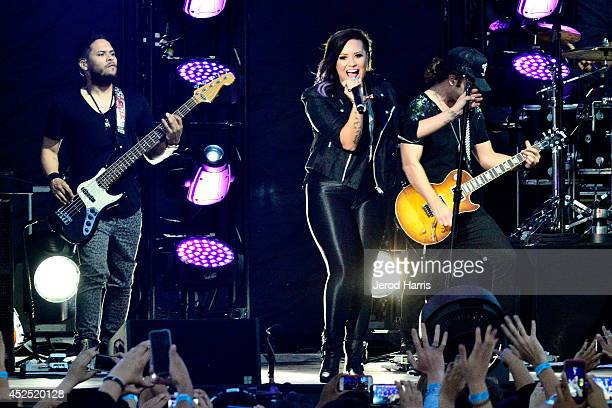 Demi Lovato performs at the Live Nation Concert Series at Harry Bridges Memorial Park on July 21 2014 in Long Beach California