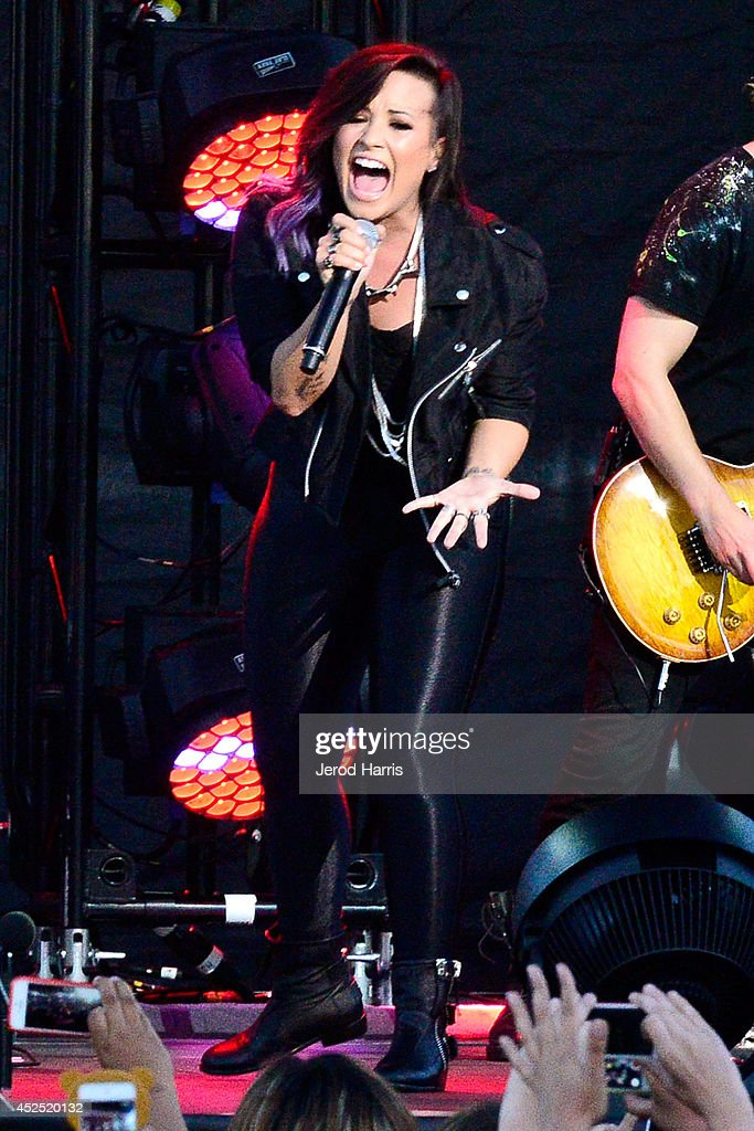 Demi Lovato Performs At The Live Nation Concert Series At Harry Bridges Memorial Park On July