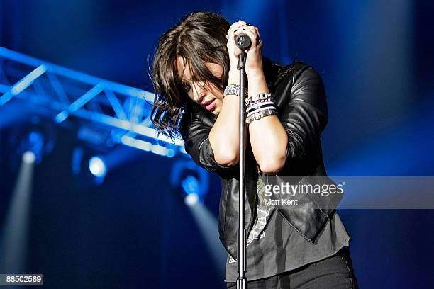 Demi Lovato performs at Wembley Arena on June 15 2009 in London England