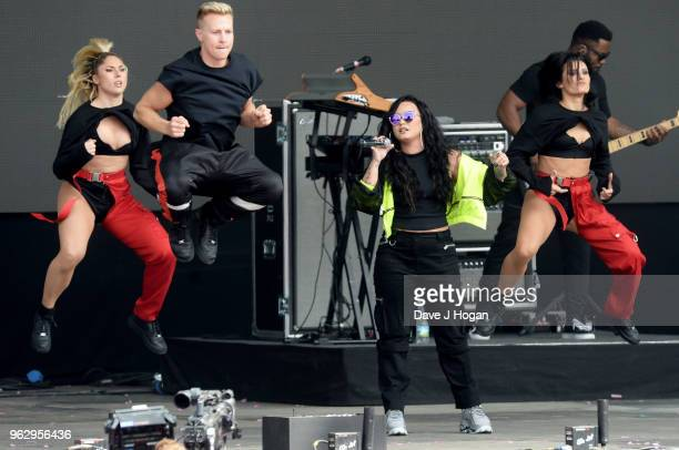 Demi Lovato performs during day 2 of BBC Radio 1's Biggest Weekend 2018 held at Singleton Park on May 27 2018 in Swansea Wales