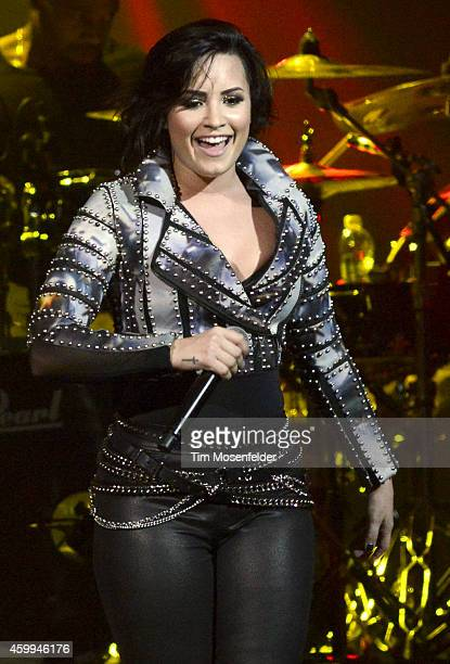 Demi Lovato performs during Now 997's Triple Ho Show at SAP Center on December 3 2014 in San Jose California