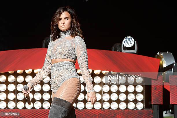 Demi Lovato performs during the 2016 Global Citizen Festival at Central Park on September 24 2016 in New York City