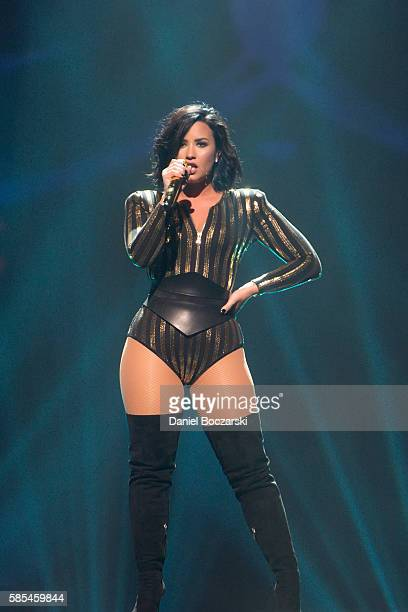 Demi Lovato performs during the 2016 Honda Civic Tour at Allstate Arena on August 2 2016 in Rosemont Illinois