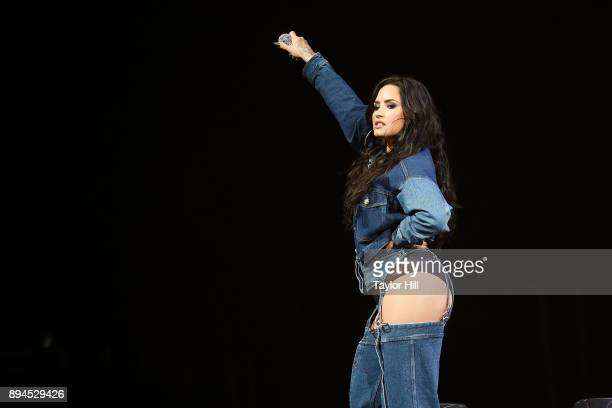 Demi Lovato performs during the 2017 Y100 Jingle Ball at BBT Center on December 17 2017 in Sunrise Florida