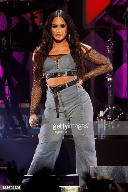 Demi Lovato performs during the 2017 Z100 Jingle Ball at Madison Square Garden on December 8 2017 in New York City