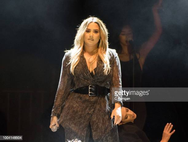 Demi Lovato performs during the 2018 California MidState Fair on July 22 2018 in Paso Robles California