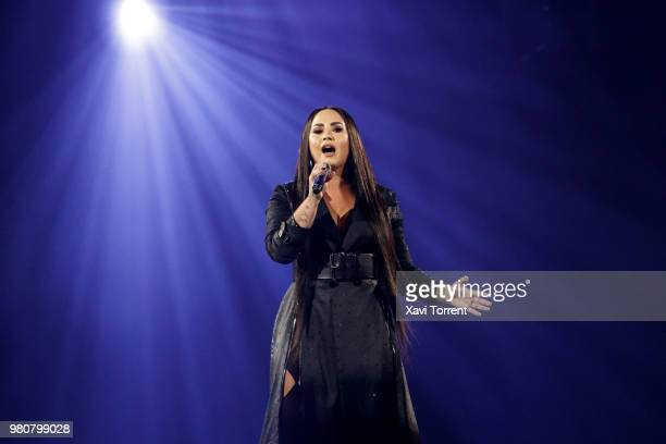 Demi Lovato performs in concert at Sant Jordi Club on June 21 2018 in Barcelona Spain