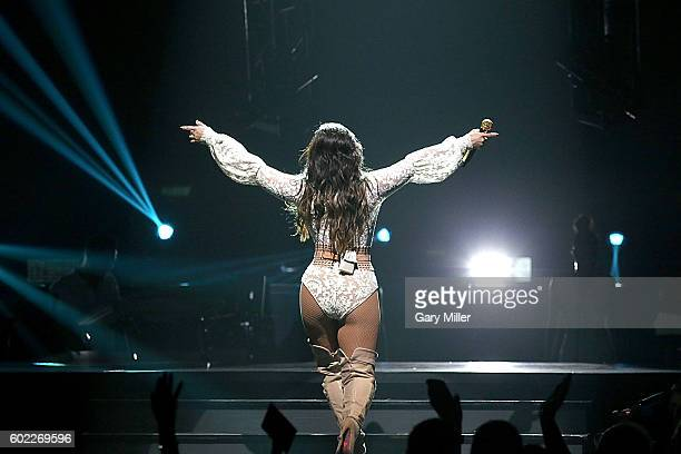 Demi Lovato performs in concert with Nick Jonas at the ATT Center on September 9 2016 in San Antonio Texas