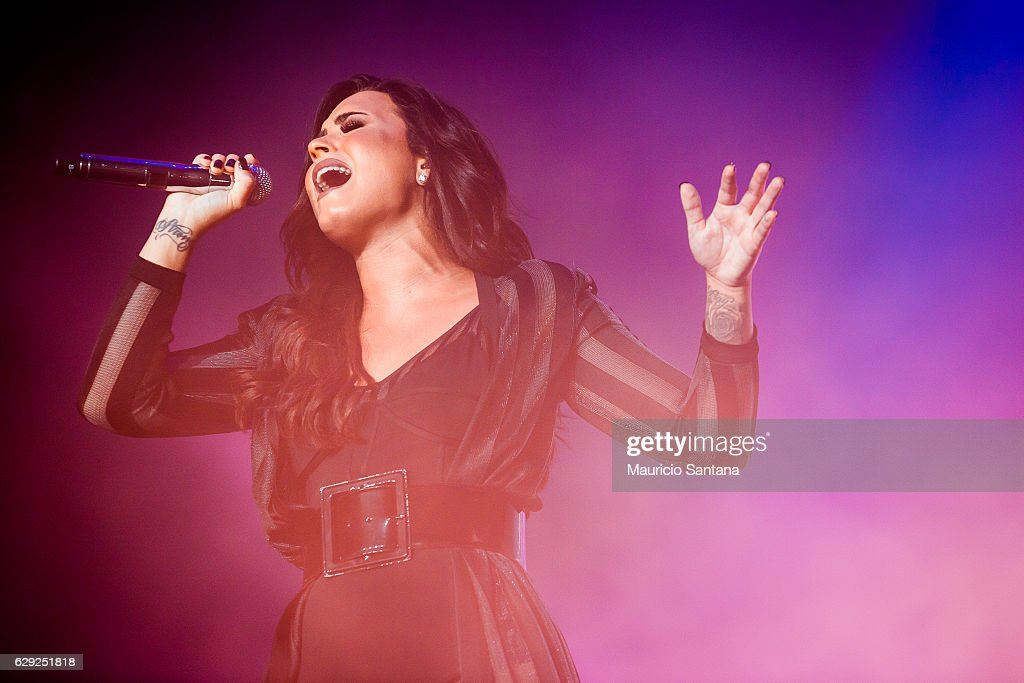Demi Lovato performs live on stage at Allianz Parque on December 10, 2016 in Sao Paulo, Brazil.