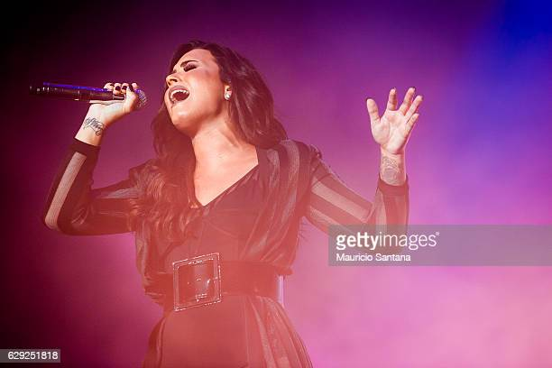 Demi Lovato performs live on stage at Allianz Parque on December 10 2016 in Sao Paulo Brazil
