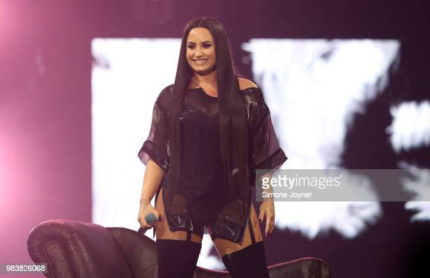 Demi Lovato performs live on stage at The O2 Arena on June 25 2018 in London England