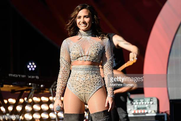 Demi Lovato performs live on stage during Global Citizen Festival 2016 at Central Park on September 24 2016 in New York City