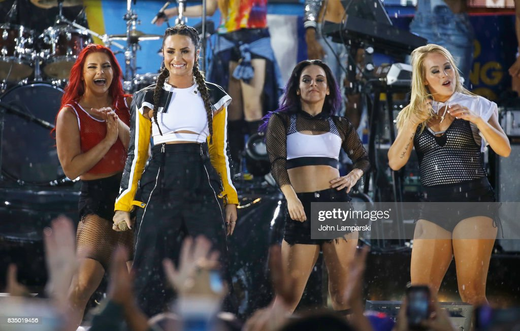 Demi Lovato performs on ABC's 'Good Morning America' at Rumsey Playfield on August 18, 2017 in New York City.