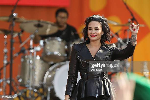 Demi Lovato performs on ABC's 'Good Morning America' at SummerStage at Rumsey Playfield Central Park on June 17 2016 in New York City