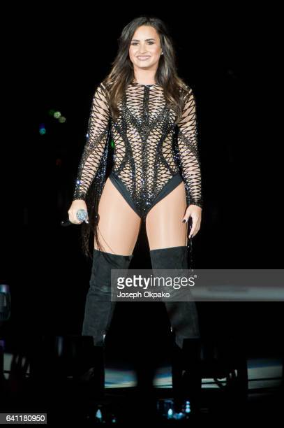 Demi Lovato performs on Day 2 of RedfestDxB on February 4 2017 in Dubai United Arab Emirates