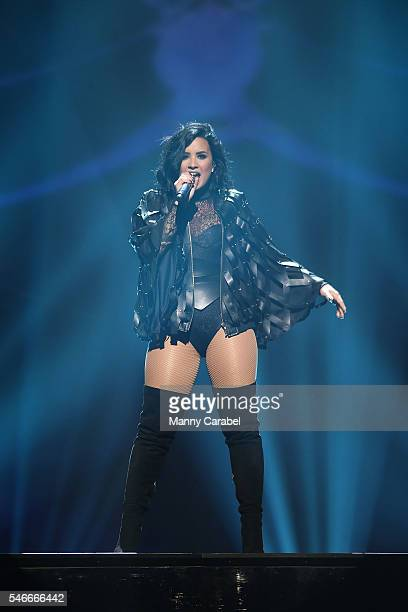 Demi Lovato performs on stage during the 2016 Honda Civic Tour: Future Now at Prudential Center on July 12, 2016 in Newark, New Jersey.