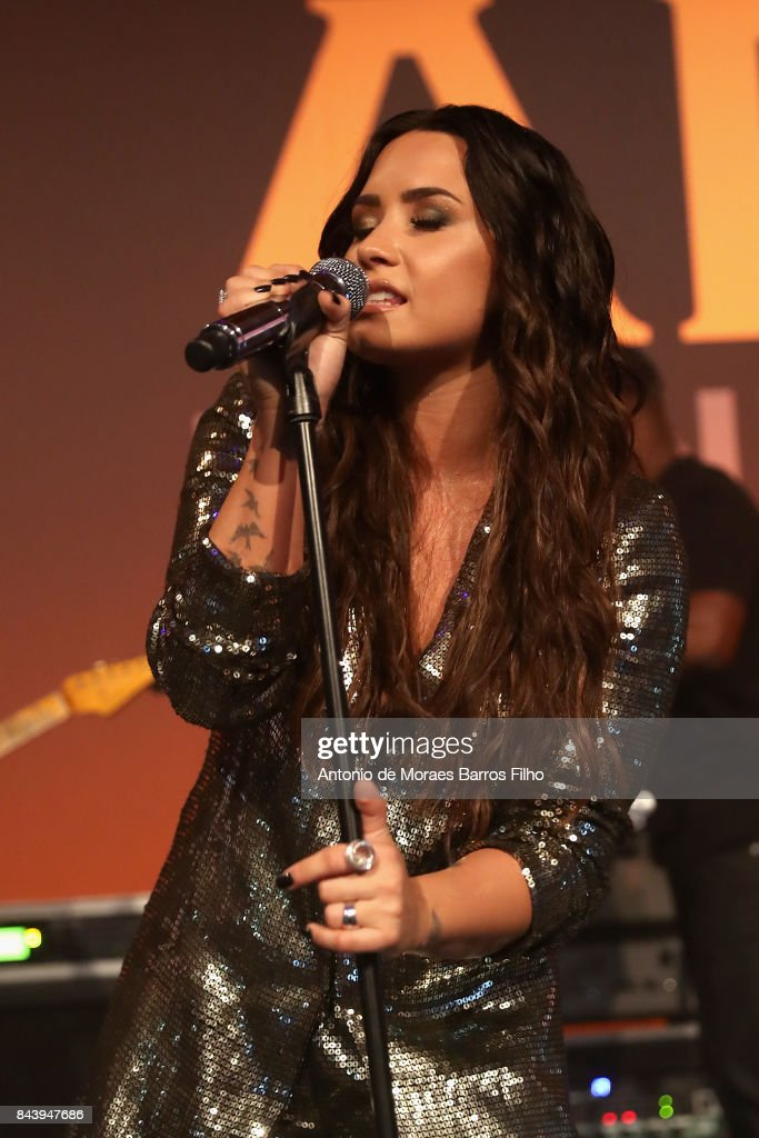 Demi Lovato performs on stage during the Alcides & Rosaura (ARD) Foundations' 'A Brazilian Night' to Benefit Memorial Sloan Kettering Cancer Center (MSK) at Cipriani 42nd Street on September 7, 2017 in New York City.