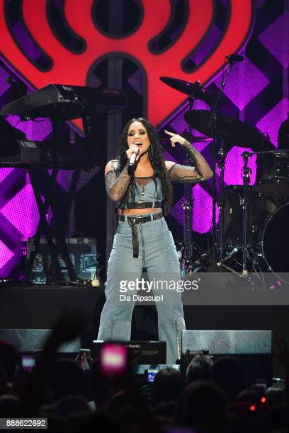 Demi Lovato performs onstage at the Z100's Jingle Ball 2017 on December 8 2017 in New York City