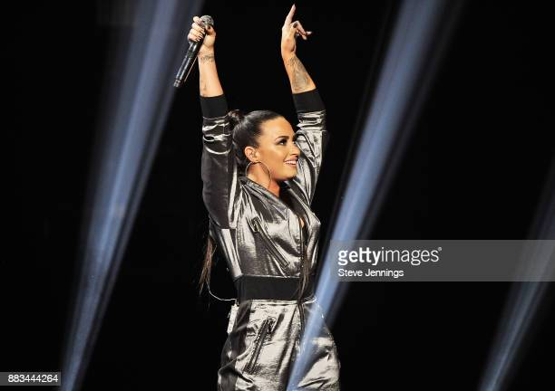 Demi Lovato performs onstage at WiLD 949's FM's Jingle Ball 2017 Presented by Capital One at SAP Center on November 30 2017 in San Jose California
