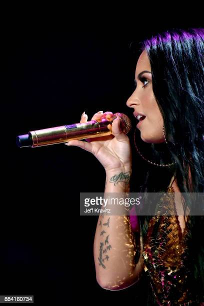 Demi Lovato performs onstage during 1027 KIIS FM's Jingle Ball 2017 presented by Capital One at The Forum on December 1 2017 in Inglewood California