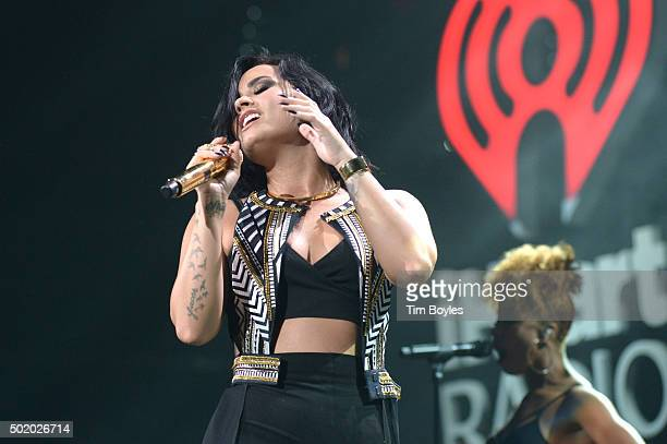 Demi Lovato performs onstage during 93.3 FLZ's Jingle Ball 2015 Presented by Capital One at Amalie Arena on December 19, 2015 in Tampa Bay, Fla.