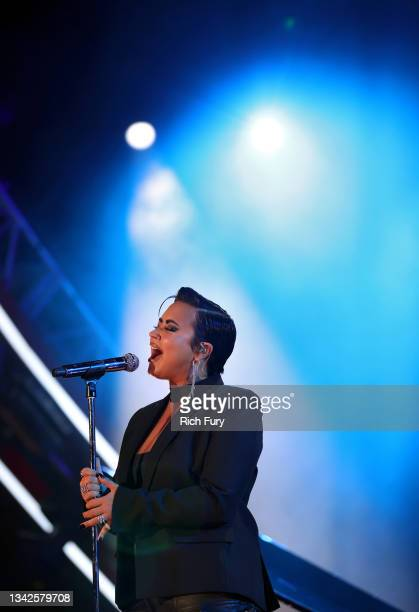 Demi Lovato performs onstage during Global Citizen Live on September 25, 2021 in Los Angeles, California.