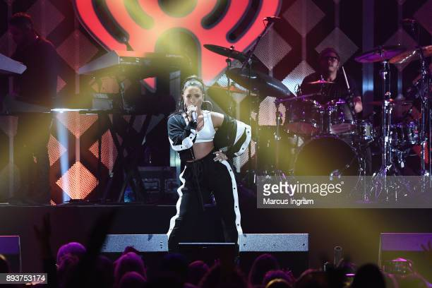 Demi Lovato performs onstage during Power 961's Jingle Ball 2017 Presented by Capital One at Philips Arena on December 15 2017 in Atlanta Georgia