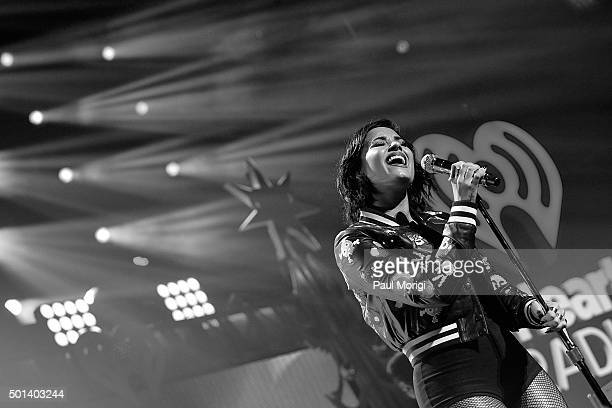 Demi Lovato performs onstage during the 2015 iHeartRadio Jingle Ball at Verizon Center on December 14 2015 in Washington DC