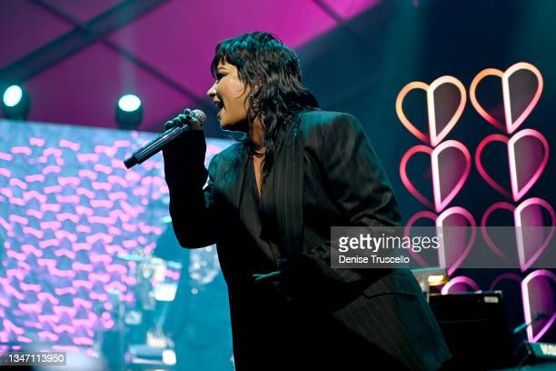Demi Lovato performs onstage during the 25th annual Keep Memory Alive 'Power of Love Gala' benefit for the Cleveland Clinic Lou Ruvo Center for Brain...