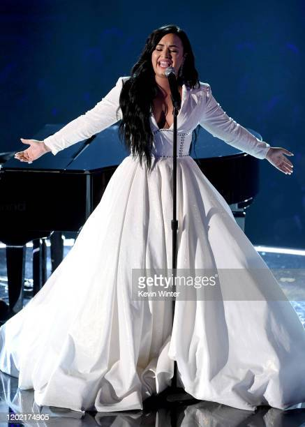 Demi Lovato performs onstage during the 62nd Annual GRAMMY Awards at STAPLES Center on January 26 2020 in Los Angeles California