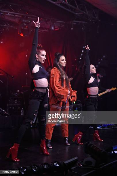 Demi Lovato performs onstage during the iHeartRadio Album Release Party with Demi Lovato at the iHeartRadio Theater on October 7 2017 in New York City
