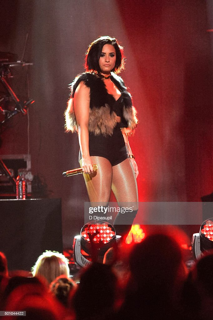Demi Lovato performs onstage during Z100's iHeartRadio Jingle Ball 2015 at Madison Square Garden on December 11, 2015 in New York City.