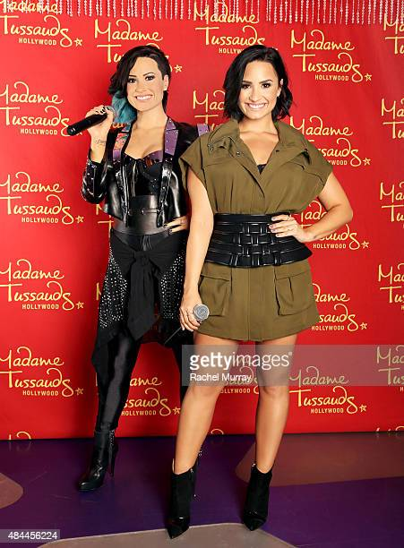 Demi Lovato receives the ultimate 23rd birthday gift from Madame Tussauds Hollywood: her own wax figure on August 17, 2015 in Hollywood, California.