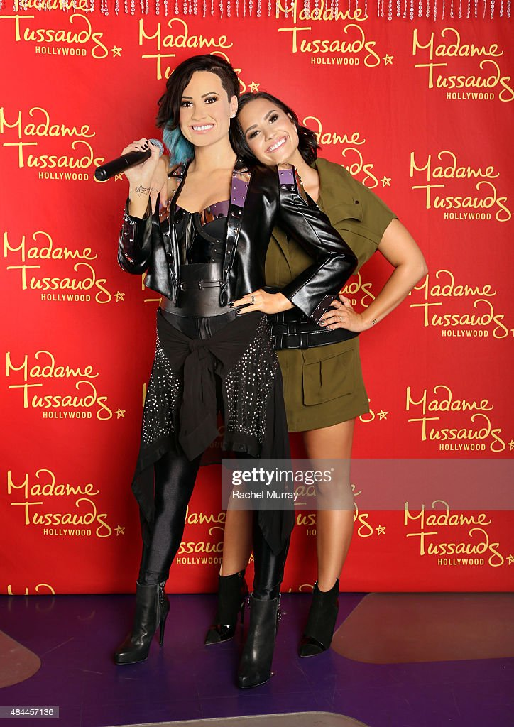 Demi Lovato Receives Ultimate 23rd Birthday Gift From Madame Tussauds Hollywood: Her Own Wax Figure : News Photo