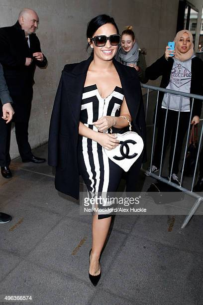 Demi Lovato seen leaving the BBC Radio 1 Studios on November 9 2015 in London England Photo by Neil Mockford/Alex Huckle/GC Images
