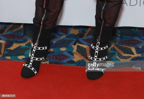 Demi Lovato shoe detail attend 1035 KISS FM's iHeartRadio Jingle Ball 2017 on December 13 2017 in Rosemont Illinois