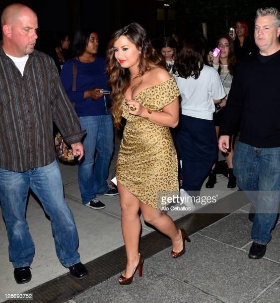 Demi Lovato sighting on September 20 2011 in New York City