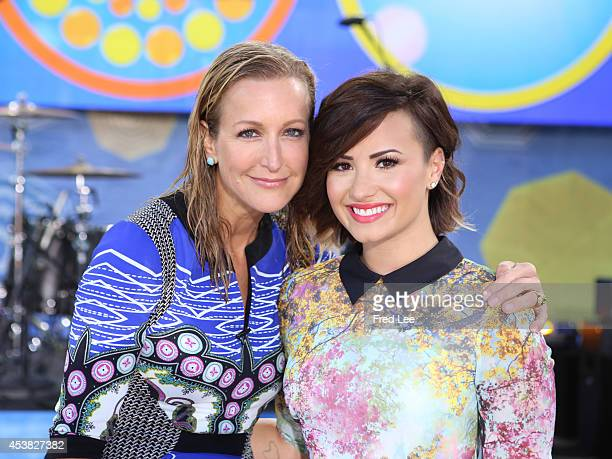 AMERICA Demi Lovato stops by the GMA Summer Concert Series on GOOD MORNING AMERICA 8/15/14 airing on the Walt Disney Television via Getty Images...