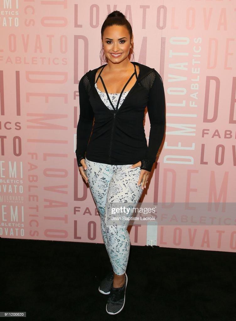 Demi Lovato visits Fabletics at Del Amo Fashion Center on January 27, 2018 in Torrance, California.