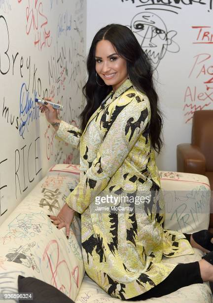Demi Lovato Visits Music Choice at Music Choice on March 22 2018 in New York City
