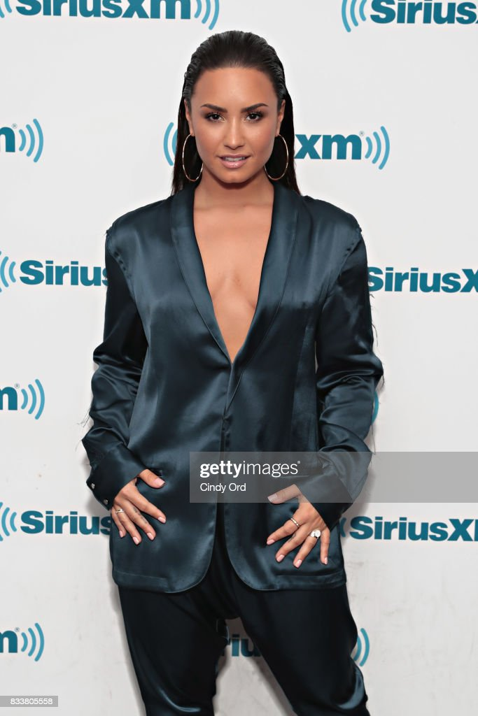Demi Lovato visits 'The Morning Mash Up' on SiriusXM Hits 1 Channel at the SiriusXM Studios on August 17, 2017 in New York City.