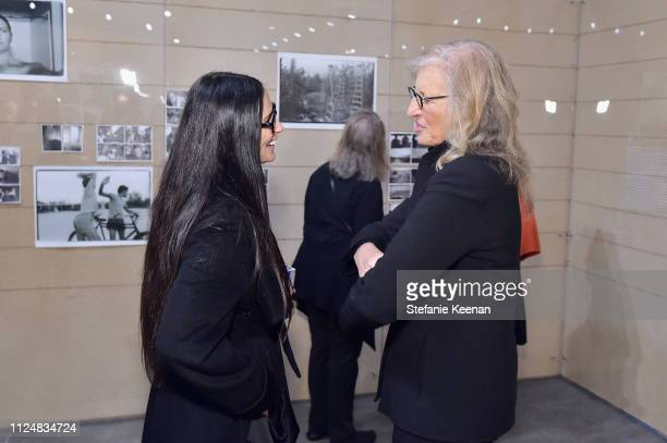 Demi Moore and Annie Leibovitz attend Hauser Wirth Los Angeles Opening of Annie Leibovitz and Piero Manzoni and Musical Performance by Patti Smith at...