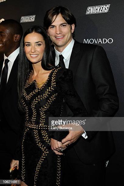 Demi Moore and Ashton Kutcher attend GQ's The Gentlemen's Ball at The Edison Ballroom on October 27 2010 in New York City