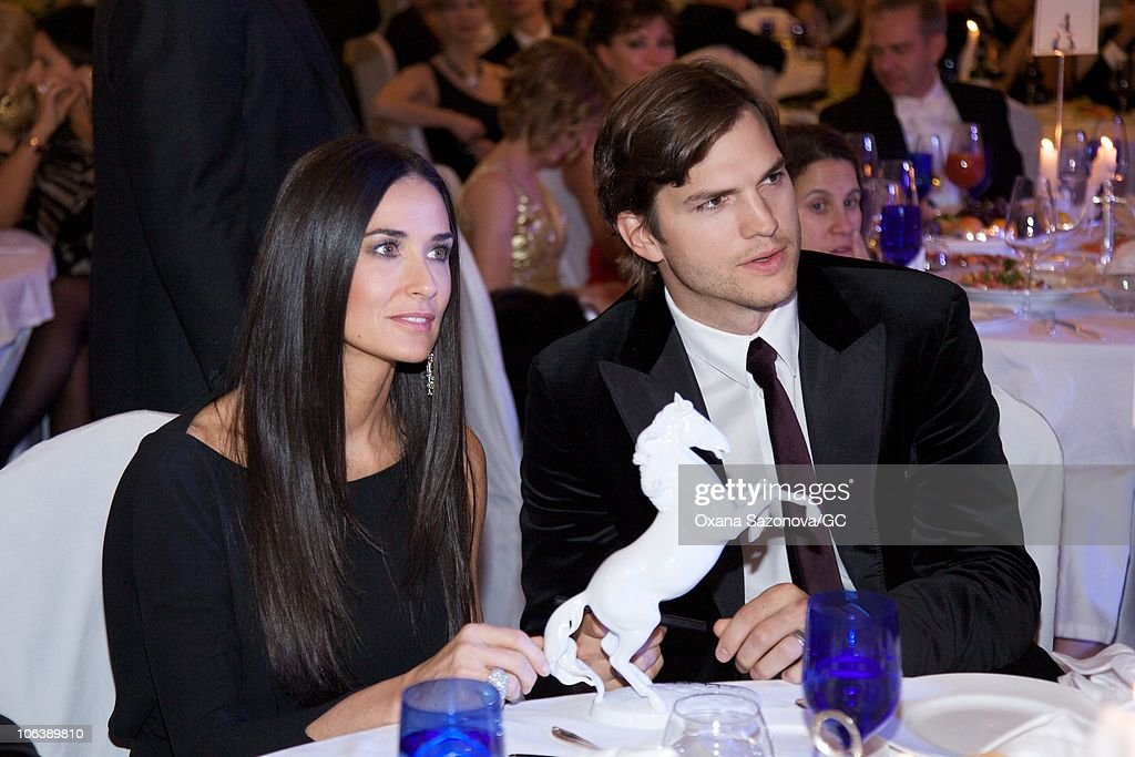 charity gala with demi moore and ashton kutcher photos and images