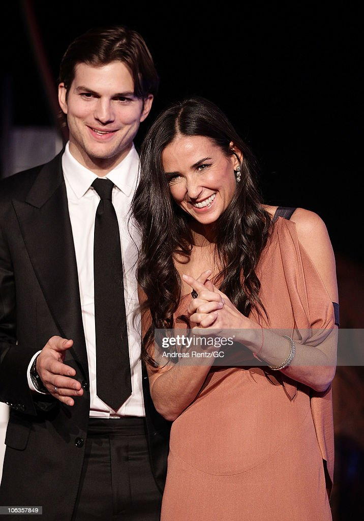 pluscity charity gala with demi moore and ashton kutcher photos and